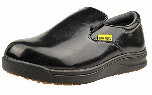 DDTX Chaussures Anti Dérapantes Homme Femme Mixte Adulte Chaussures de Travail Chaussures de Cuisine Résistant à l'eau Légères Noir&Blanc 37-45EU