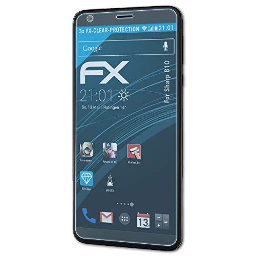atFolix Schutzfolie kompatibel mit Sharp B10 Folie, ultraklare FX Displayschutzfolie (3X)