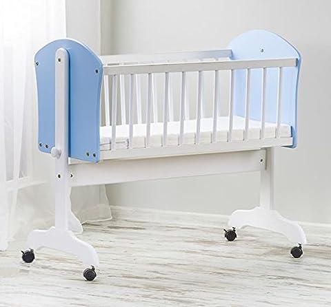 Baby Holz Swinging Rocken, Kinderbett/Wiege Rahmen + Matratze (90x