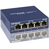 NETGEAR GS105UK 5-Port Gigabit Unmanaged Ethernet Switch