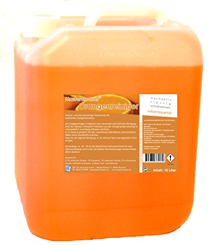 Mastercleaner Orangenreiniger Konzentrat mit nat. Orangenöl der hochwirksame und kraftvolle Allzweckreiniger 10 Liter - Hochwirksames Konzentrat