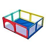 XHJYWL Box per Bambini Extra Alto 27,5 '' Multicolore con Porta, Recinzione Portatile di Sicurezza per Bambini per Interni (Dimensioni: 150x190x70cm)