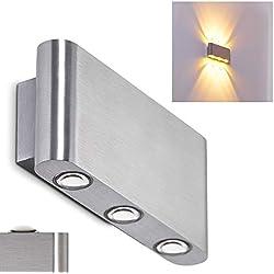 LED Lámpara de pared Lente - 6x LED 1W - 3000K - 480 Lumens - Uso exterior e interior