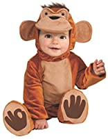 """Kids Sizes Infant 6-12 Months (approximately 23"""" in length); The Funky Monkey cuddly jungle costume includes a romper with separate headpiece and booties Ideal for any animal, jungle or zoo themed party or infant and toddler fancy dress Tail ..."""