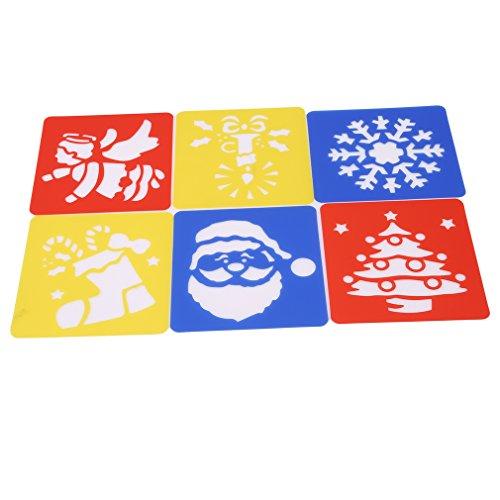 HYhy Abwasch Schablonen Puzzle Spaß Aufklärung Bildung für Kinder Kunst Handwerk Schule Projekte, Weihnachten (Weihnachts-kunst-projekte Für Kinder)