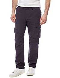 51170705345f0 Red Herring Men Big and Tall Dark Grey Cargo Trousers
