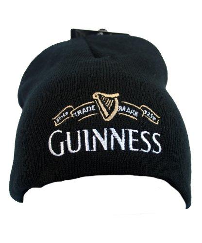 guinness-official-merchandise-trademark-knitted-hat-cappello-da-uomo-nero-schwarz-black-unica