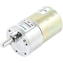Sourcingmap - Dc 24v 0.33a 37 millimetri di diametro ingranaggio magnetico motoriduttore scatola 300 rpm