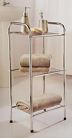 Chrome Finish 3 Tier Storage Unit Bathroom/shower Toiletories/towel Organiser-318166