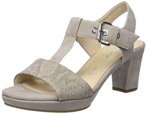 Gabor Shoes Damen Comfort Offene Sandalen , Beige (Leinen/Puder(A.OBL) 44), 35.5 EU