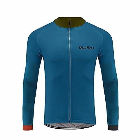 Uglyfrog #39 Neue Männer Radfahren Langarm Radfahren Jersey eine Menge Farben Antislip Ärmel Cuff Road Bike MTB Top Riding Shirt
