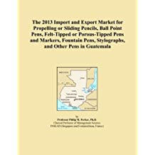 The 2013 Import and Export Market for Propelling or Sliding Pencils, Ball Point Pens, Felt-Tipped or Porous-Tipped Pens and Markers, Fountain Pens, Stylographs, and Other Pens in Guatemala