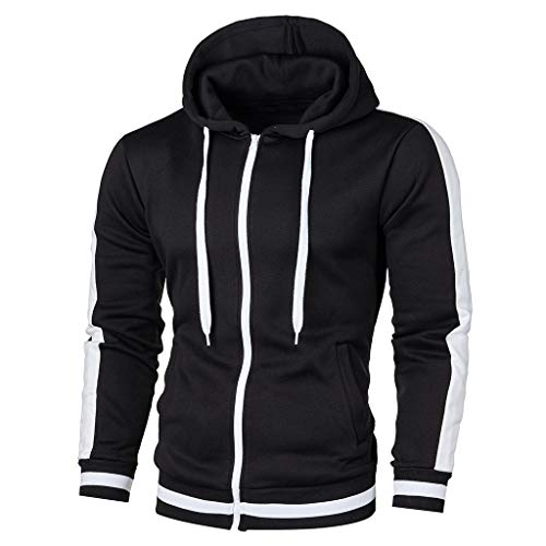 Elecenty Pullover Men Autumn Long Ärmel Patchwork Hoodie Hooded Sweatshirt Oben Tee Outwear Blouse -