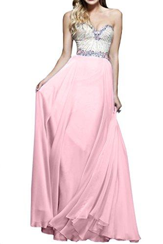 ivyd ressing–Cœur de la découpe strass a ligne fixe Vêtements Prom robe robe du soir - Perlerosa