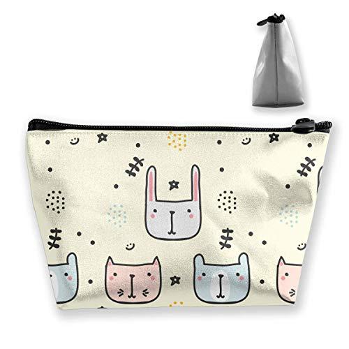 Kindisch Doodle Muster Trapez Frauen Kosmetiktaschen Multi Funktion Waschen Aufbewahrungstasche -