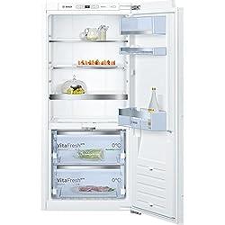 Bosch Réfrigérateur - congélateur KXF41V111 (congélateur en-dessous - encastrable) / classe énergétique A+++ / 125 cm / 80 kWh/an/réfrigérateur 187 L/congélateur 70 L/charnière plate