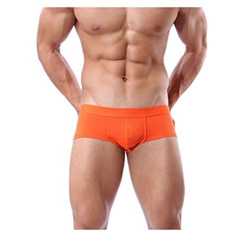 Sexy Unterwäsche Badehose Hose Boxershorts für Männer (Orange, M)
