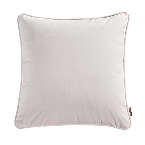 niobomo Super Soft Kopfkissen, Top 4er Pack massivem Deko 18x 18Werfen Kissen Fall Set, Best waschbar Reißverschluss Kissen Bettüberwurf Set, Samt, ivory (1-pack), 45,7 x 45,7 cm