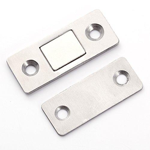 2 x Super Stark Edelstahl Magnetschnäpper Magnet Möbelmagnet Türmagnete Türverschluß Haltemagnet Magnetverschluss