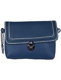(Butterflies Women Textured Sling Bag (Blue) (BNS-B-9013#BL)