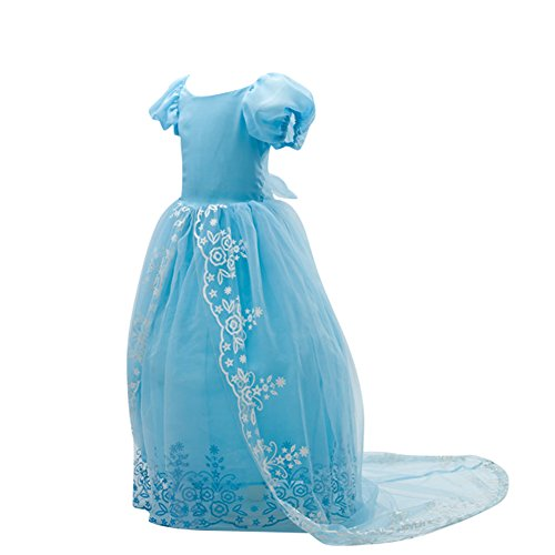 Kostüm Royal - Le SSara Kleine Mädchen Crystal Princess Royal Belle lange Kostüm Kleid (7-8 Years)