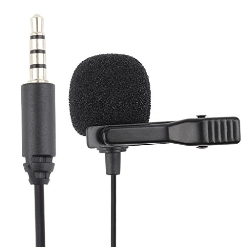 Fenderüberzug by-lm10Mini Kugel Kondensator Lavalier Mikrofon mit 3.5mm Verbindung für Smartphone Mobile iOS iPhone iPad iPod mit Kabel 1.2m (Iphone Camaras Para)