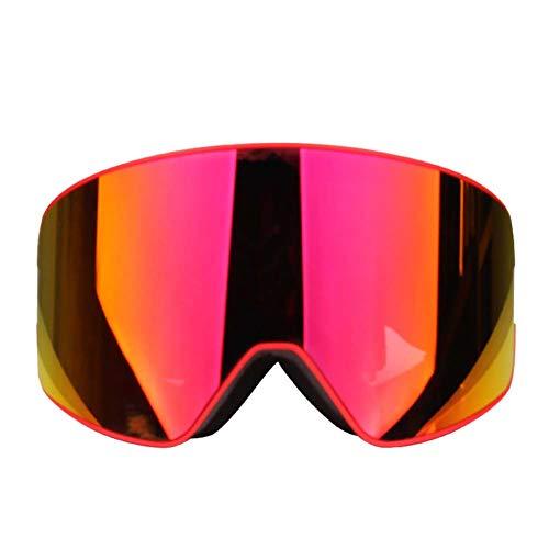 JXS-Goggles 2-Layer Ski-Brillen, Windproof Brillen, geeignet für alle Wetterbedingungen, geeignet für Myopia-Gläser