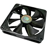 Cooler Master Silent Fan 140mm - ventilateurs, refoidisseurs et radiateurs (Boitier PC, Ventilateur, Noir, 140 x 25 x 140 mm, 3 Pin)