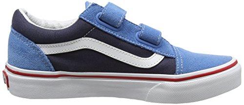 Vans Uy Old Skool V, Sneakers Basses Garçon Bleu (2 Tone Cendre Blue/parisian Night)