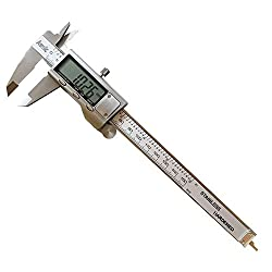 Digital Vernier Caliper, Awnic Digital Caliper High Precision Stainless Steel 0-6 Inch Measure Internal External Height Depth