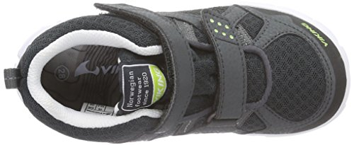 Viking Hobbit Mid Gtx, Baskets Basses Mixte Enfant Gris - Grau (Charcoal/Lime 7788)