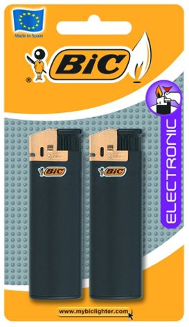 Bic Doppelpack 2 Bic Maxi-Elektrofeuerzeuge (Bic Feuerzeug Sport)
