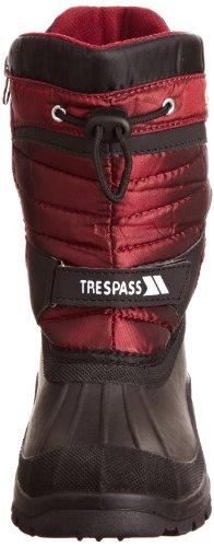 Trespass Kukun, Unisex-Erwachsene Schneestiefel Schwarz (red)