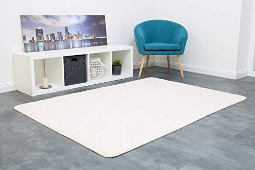 misento Shaggy Hochflor Teppich für Wohnzimmer Langflor, schadstoff geprüft 100 {51811a71eee91c978e58bda373ccc5b45615e131f1f62e7b13c4e8ceb7c33edb} Polypropylen,  creme-weiß 100 x 150 cm