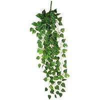 KirinStores - Planta artificial colgante, guirnalda decorativa de hojas de poto
