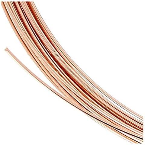 Hilo flexible 0.41 mm de Rosa Gold filled 14K x 1 m