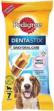 Pedigree Dentastix Medium Breed (10-25 kg) Oral Care Dog Treat, 180g Weekly Pack (7 Chew Sticks)