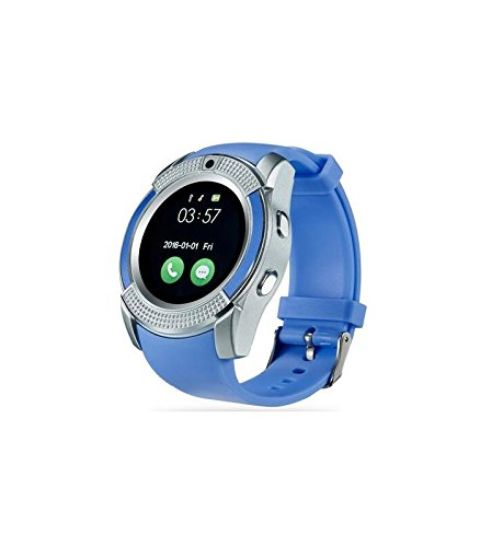 ESTAR Bluetooth Smartwatch with SIM Card Support | Android 5.1 OS | Facebook | Whatsapp | Activity Tracker | Fitness Band | Music | Camera with Video Recording | Compatible with Alcatel OneTouch Pixi 3 (5.5) 4G and All Other Smartphones | Micro SD card Support