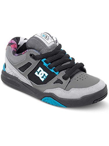 Dc shoes - Stag 2 kb junior - Chaussures basses cuir ou simili Gris Anthracite foncé