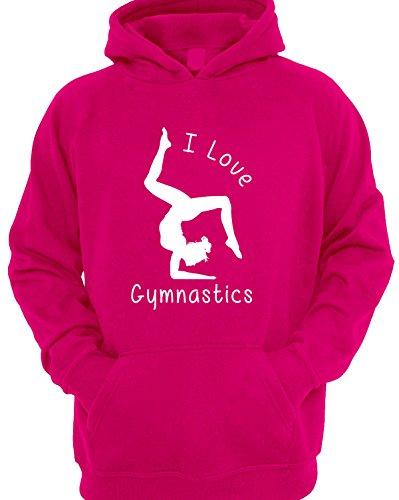 I Love Gymnastics Girl's Children's Gymnastics Hoodie