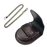 Kineca Leather Cover Vintage Classic Pocketed Watch Box Chain Pocket Watch Storage Holder Coin Purse Pouch Bag