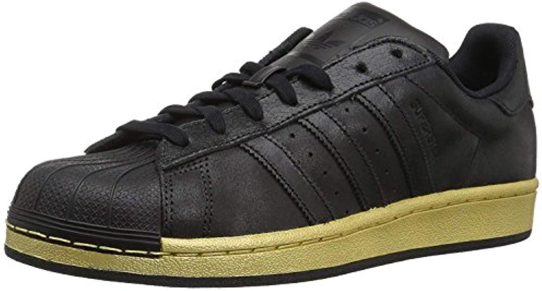 Adidas – Scarpe da Ginnastica Superstar Foundation J Scarpe, Nero (Cnero,cnero,oromt-bb8119), 43,5 EU | 2019 Nuovo  | Sig/Sig Ra Scarpa
