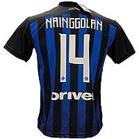 F.C.Internazionale Maglia Calcio Inter NAINGGOLAN 14 Replica Autorizzata 2018-2019 bambino (taglie 2 4 6 8 10 12) adulto (S M L XL) (6 ANNI)