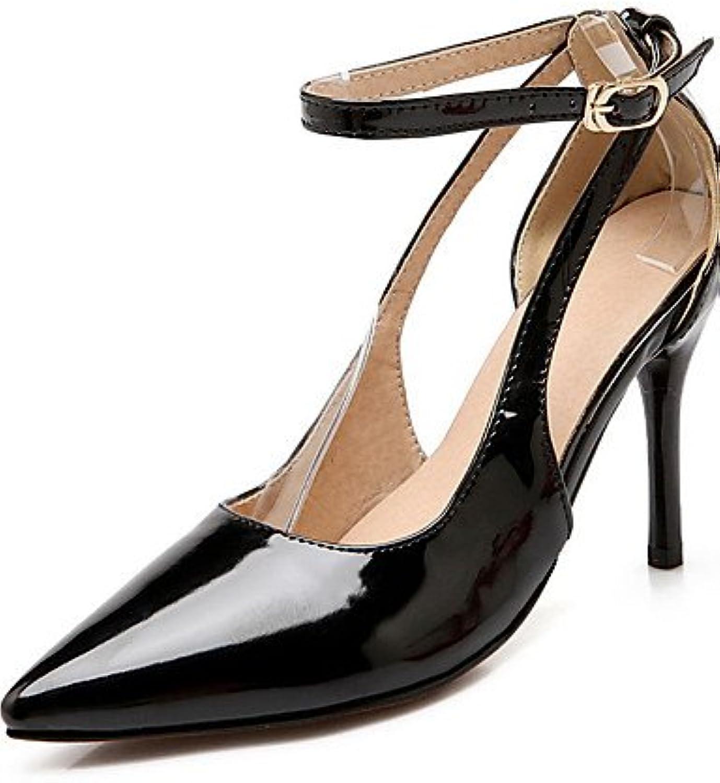 GGX/Damen-Schnalle Spitz geschlossen Zehen Spikes Absätzen Patent Leder pumps-shoes