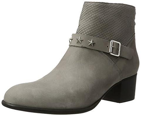 Tommy Hilfiger Damen P1285ARSON 10N Kurzschaft Stiefel, Grau (Light Grey), 38 EU