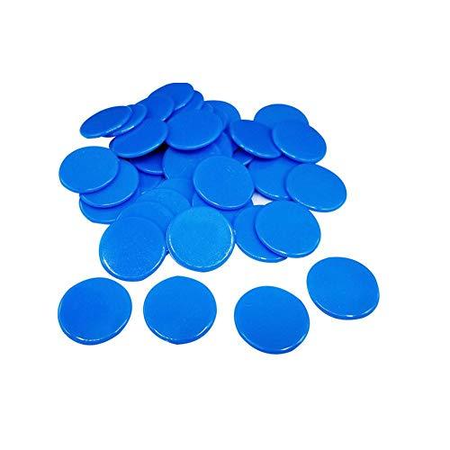 Seasons Shop 100 Stück Bingo Chips Zähler transparent Markierungszähler Kunststoff 19 mm zum Zählen oder Marken 7 -