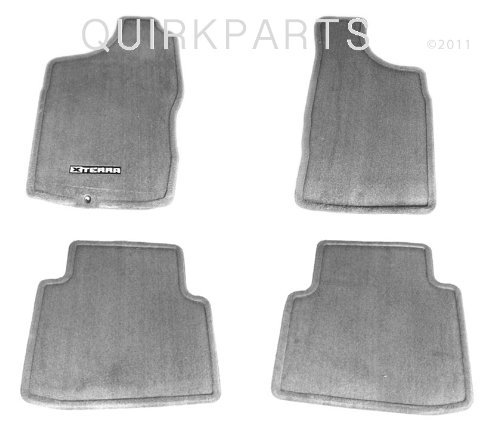 2000-2004-nissan-xterra-floor-mats-carpeted-gray-set-of-4-genuine-oem-by-nissan