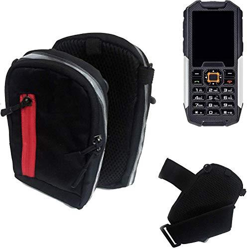 K-S-Trade Outdoor Gürteltasche Umhängetasche für Cyrus cm 7 schwarz Handytasche Case travelbag Schutzhülle Handyhülle