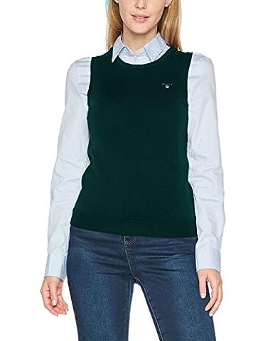 GANT Superfine Lambswool Crew Vest, Débardeur Femme, Vert (Tartan Green), 14 (Taille Fabricant: Large)