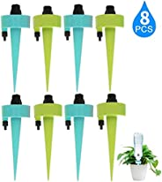 8Pack Plant Watering Devices Vacation Self Watering System,Automatic Irrigation Self Watering Spikes with Drip